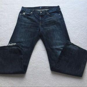 7 For All Mankind Men's Sz 36 Dark Jeans